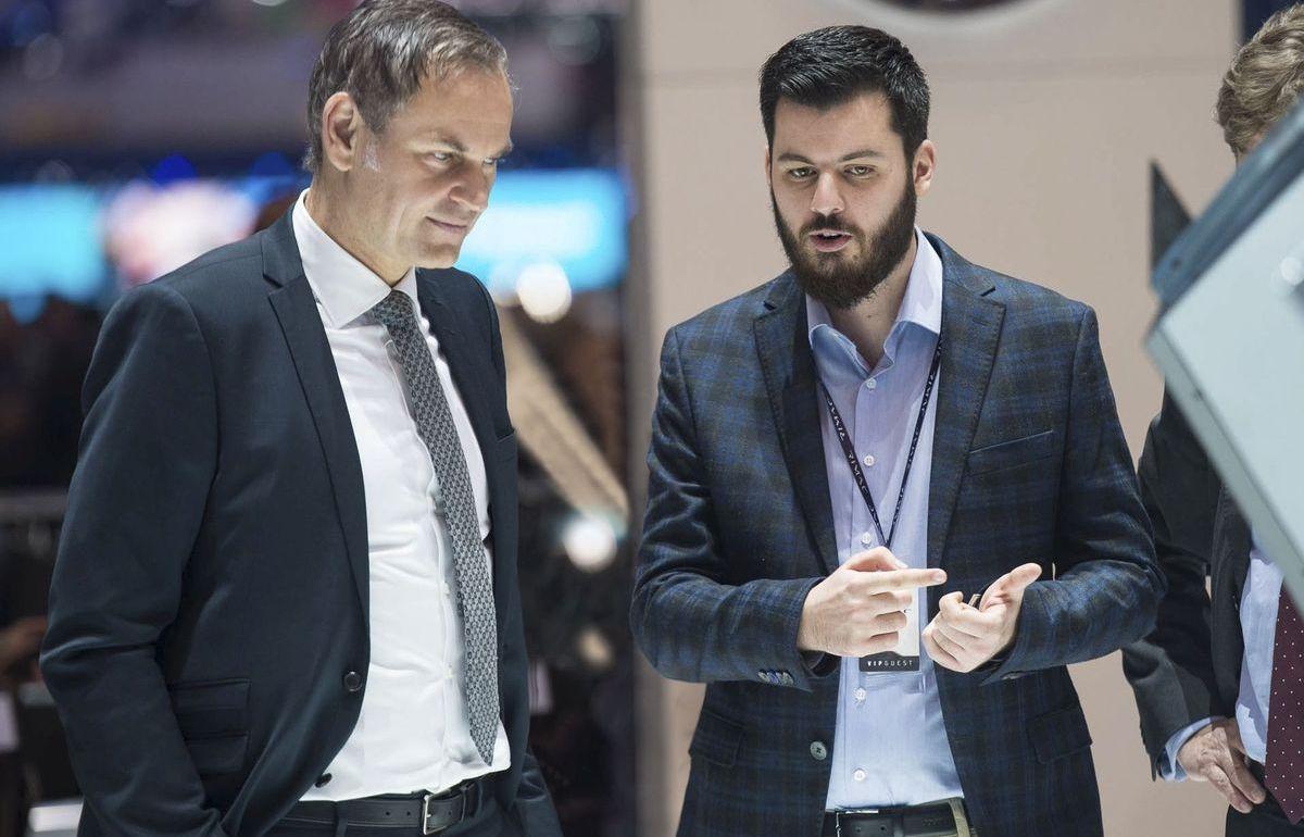 Porsche-Vorstandsvorsitzender Oliver Blume, Rimac-Gründer Mate Rimac