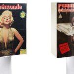 Titelseiten mit Ikonen auf der Leuchte