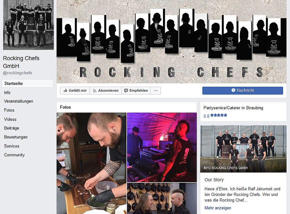 Rocking Chefs bei Facebook: @rockingchefs