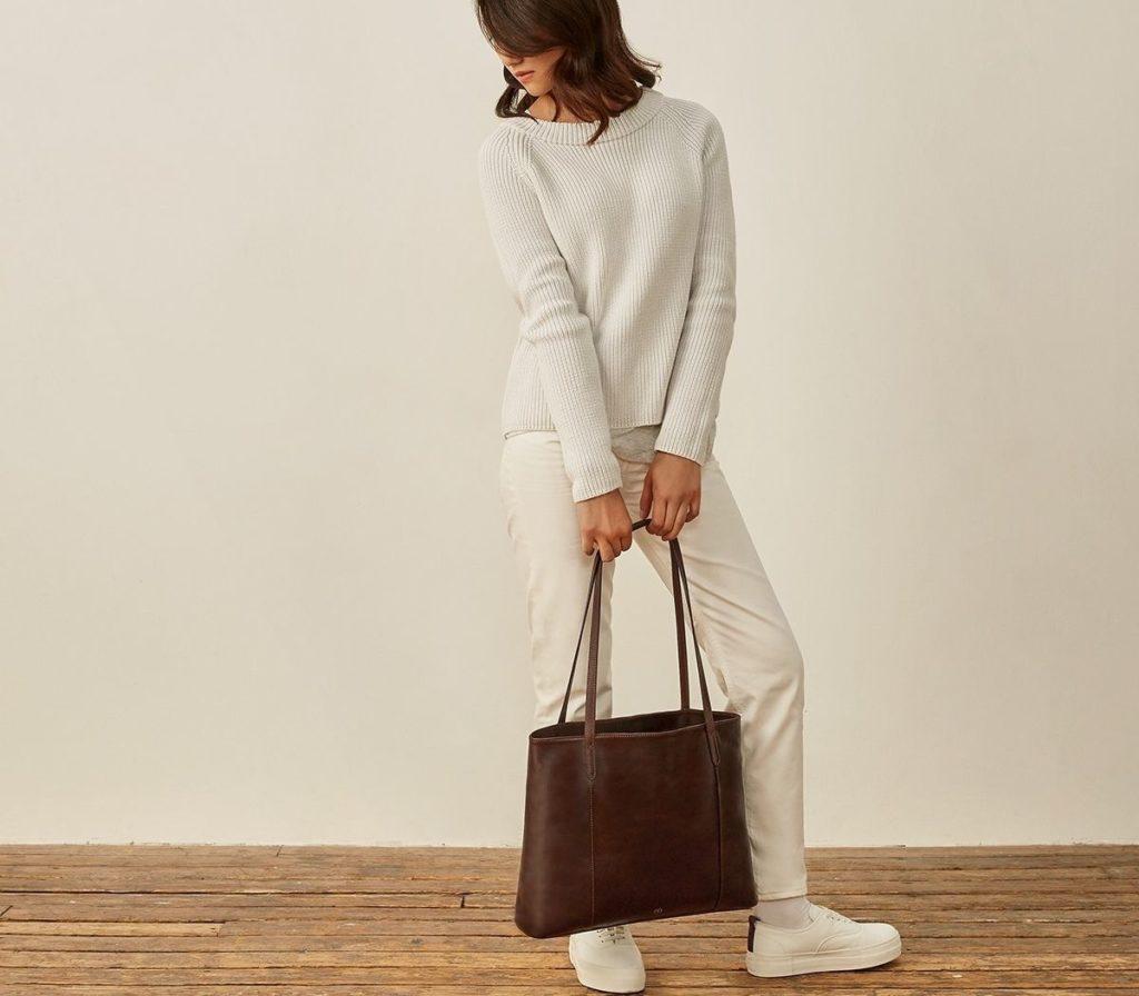 Maxwell Scott Bags, Leder-Shopper Athenea