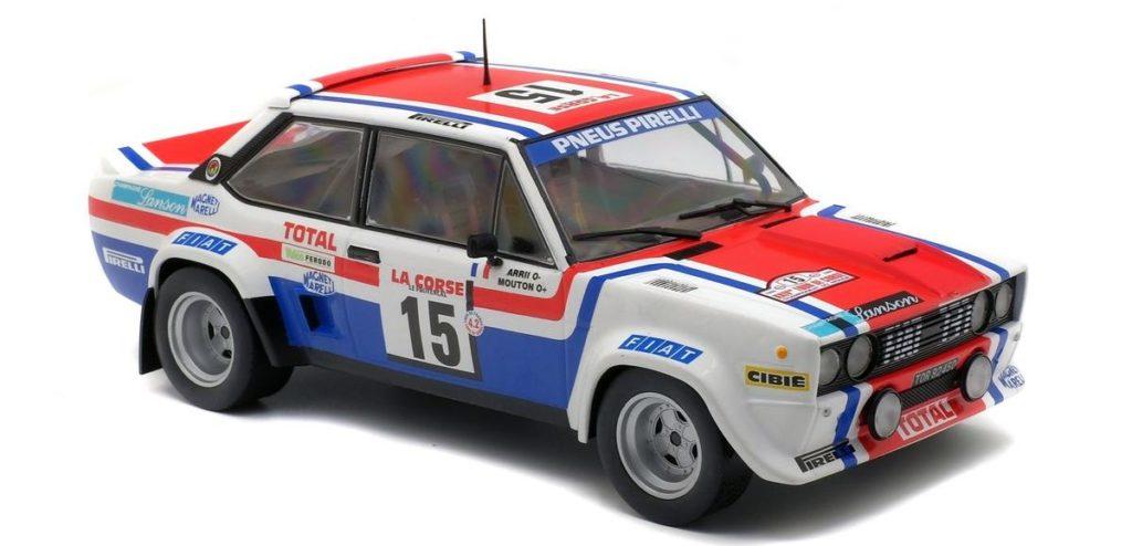 "Fiat 131 Abarth Rallye ""Tour de Corse 1979"" von Solido im Maßstab 1:18"