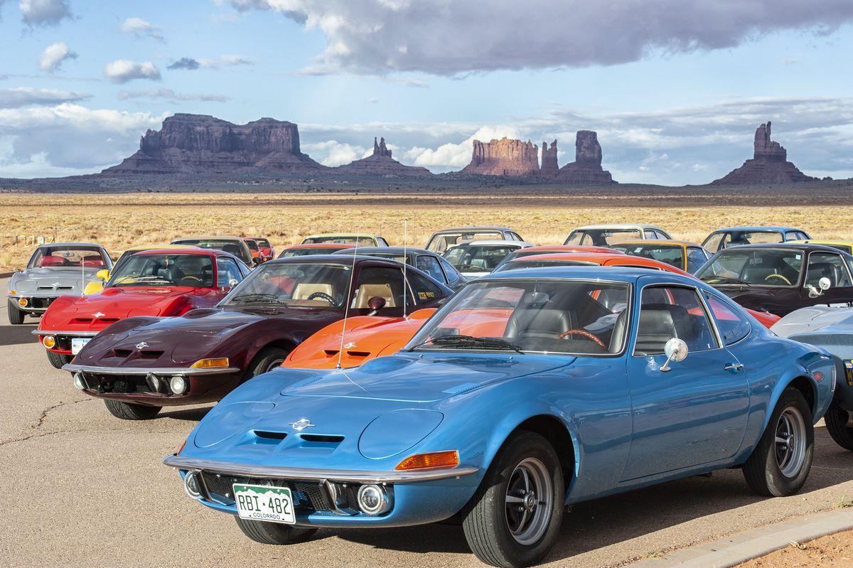 Opel GT (1968–1973) im Jubiläumsjahr 2018 auf Roadtrip in den USA