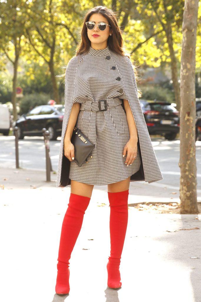 Hahnentritt-Muster: Street Style in Paris