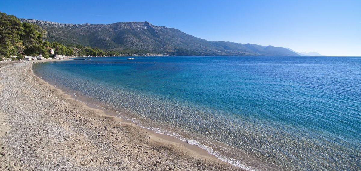 Kroatien: Strand von Orebić in Süddalmatien