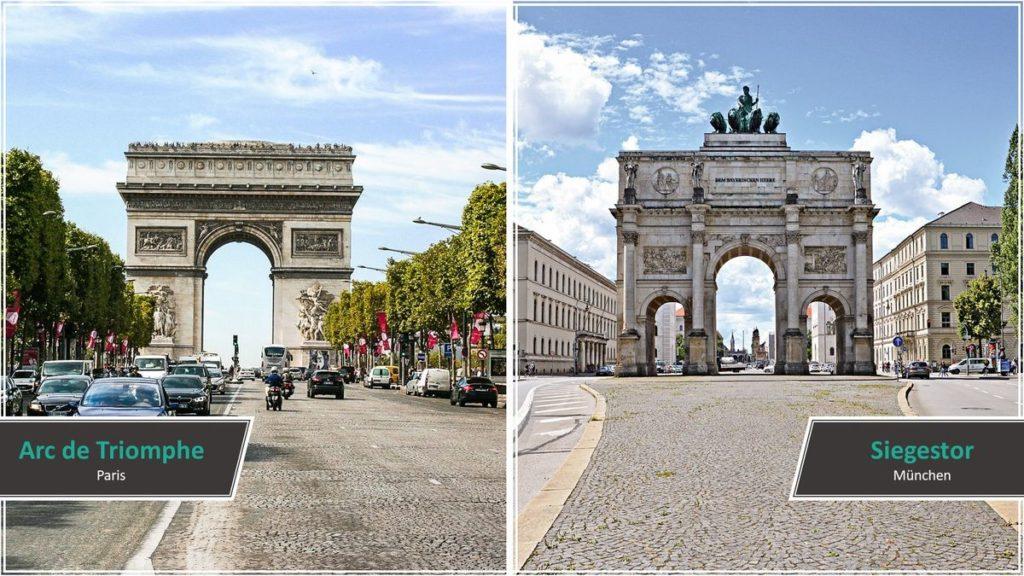 Arc de Triomphe vs. Siegestor