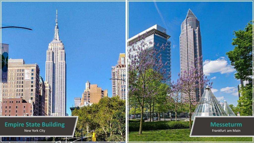 Empire State Building vs. Messeturm