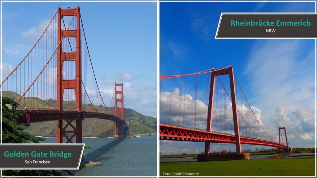 Golden Gate Bridge vs. Rheinbrücke