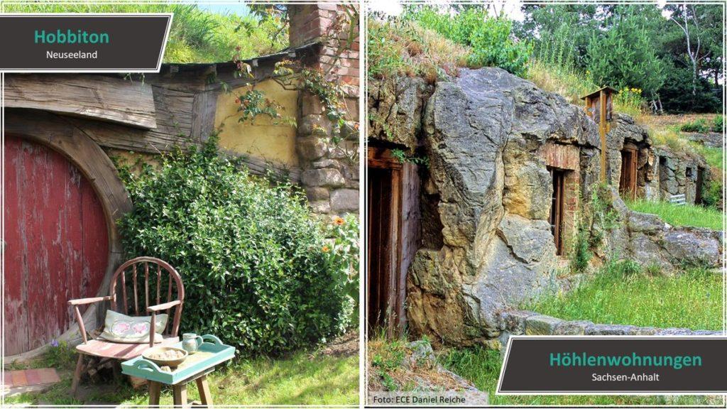 Hobbiton vs. Höhlenwohnungen