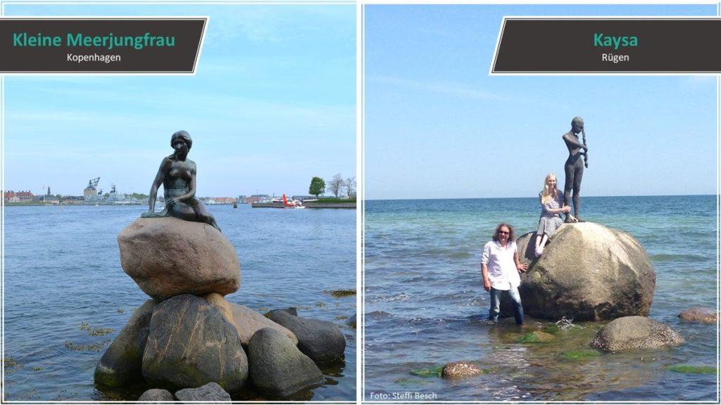 Kleine Meerjungfrau vs. Kaysa Statue