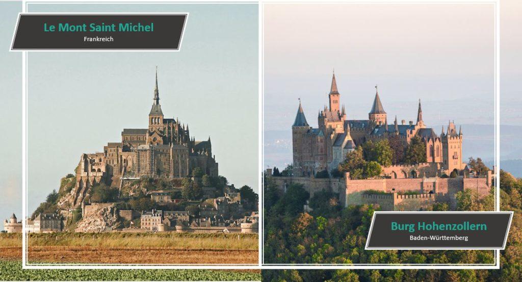 Le Mont Saint Michel vs. Burg Hohenzollern