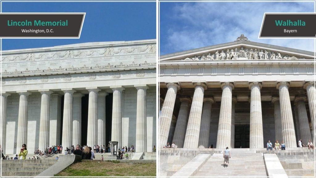 Lincoln Memorial vs. Walhalla