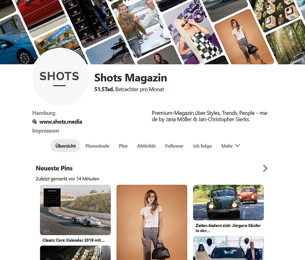 Shots Magazin bei Pinterest