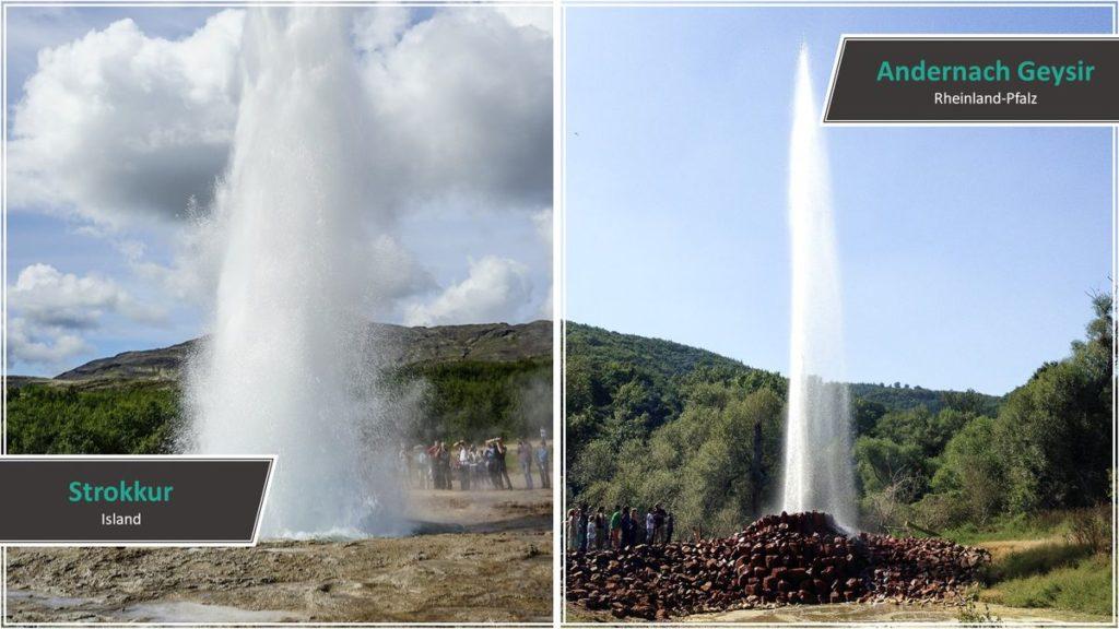 Strokkur vs. Andernach Geysir