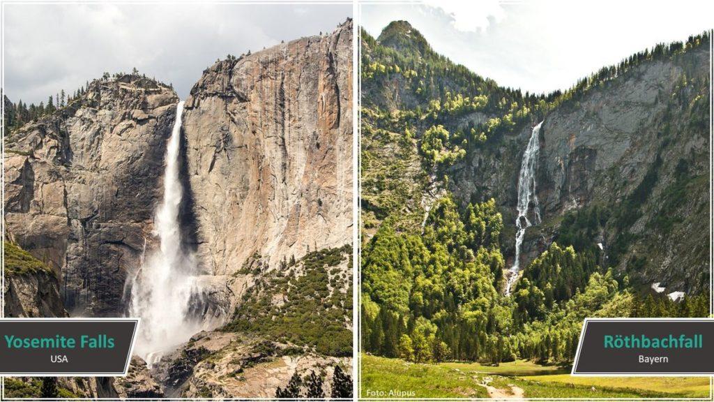 Yosemite Falls vs. Röthbachfall