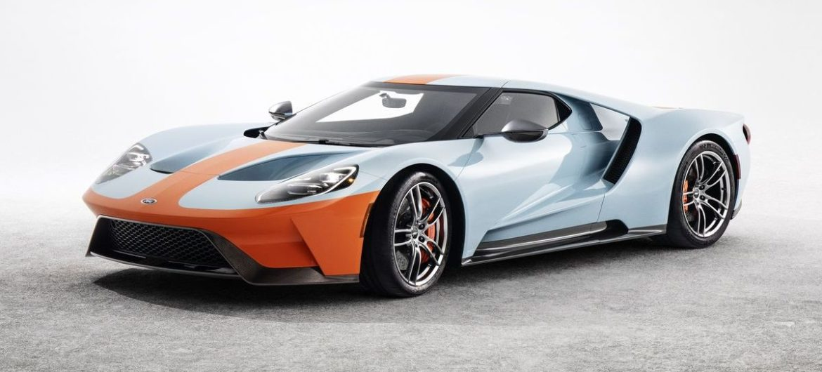"Ford GT in der ""Gulf Oil""-Lackierung"