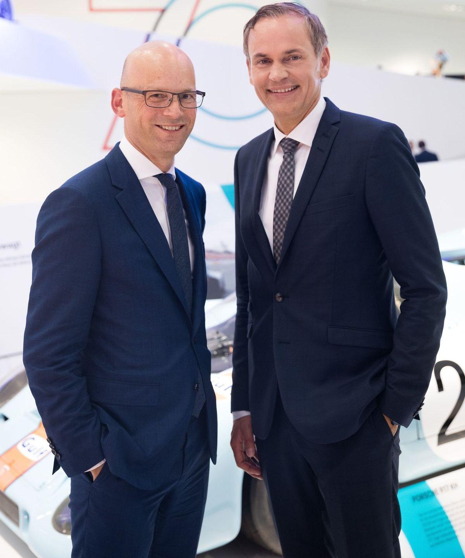 Mark Langer (CEO Hugo Boss), Oliver Blume (Vorstandsvorsitzender Porsche)