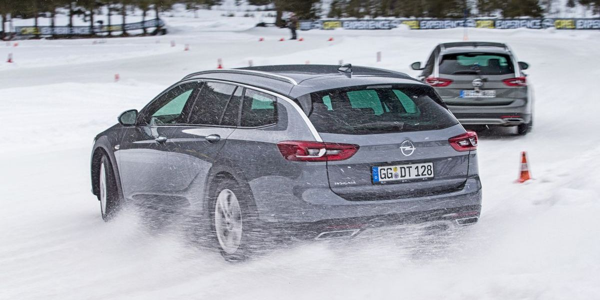 Opel-Fahrtraining im Winter-Testcenter in Thomatal