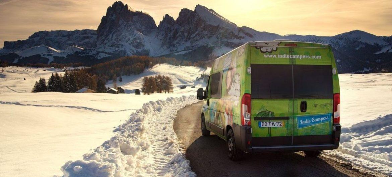 Wintercamping mit Indie Campers