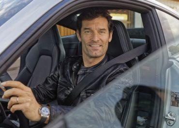 Mark Webber im neuen Porsche 911