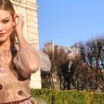 Karlie Kloss in einer Traumrobe von Dior