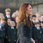 Herzogin Kate recycelt ihren Alexander McQueen Tartan-Mantel
