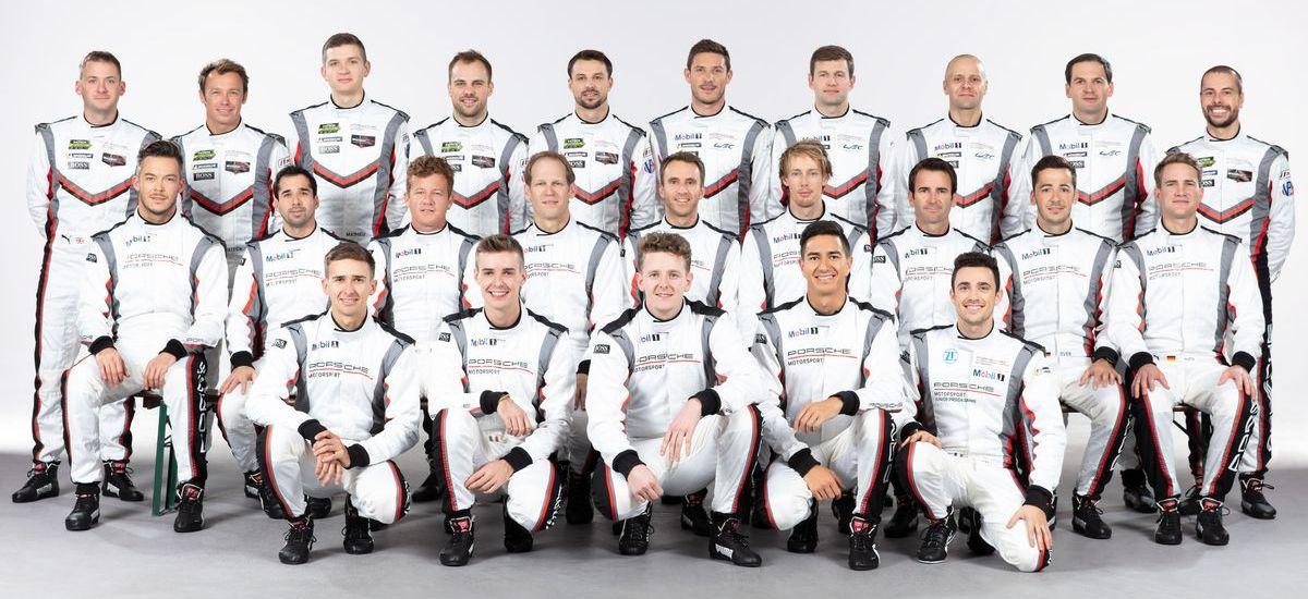 Die Porsche-Werksfahrer des Jahres 2019.