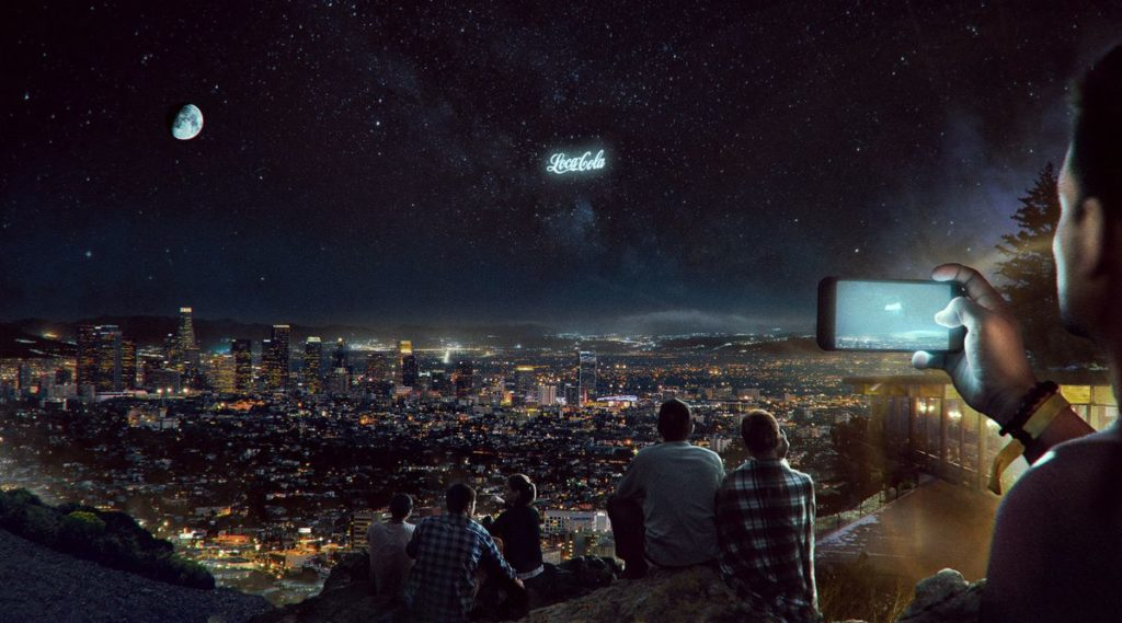 Werbung im Weltall