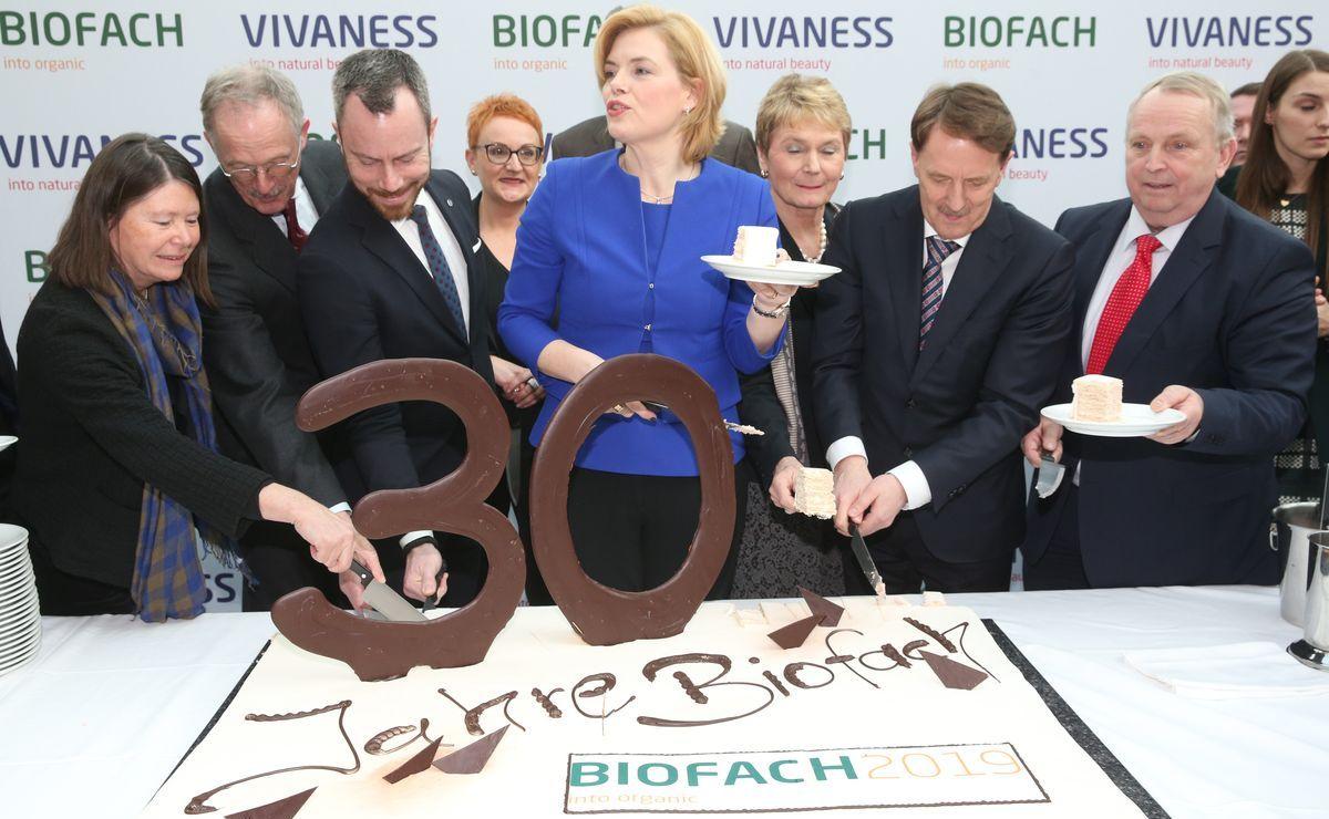 30 Jahre Biofach: Bundeslandwirtschaftsministerin Julia Klöckner war Gast bei der diesjährigen Messeeröffnung.