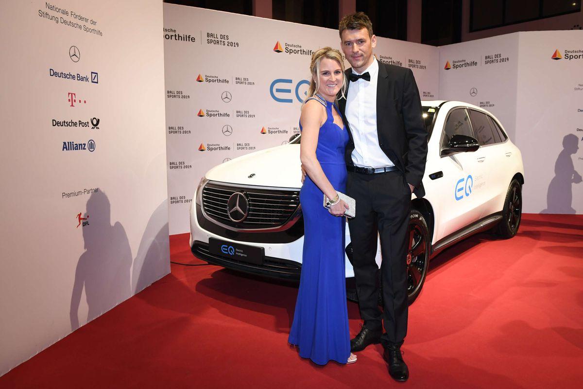 Christian Prokop, Trainer der deutschen Handball-Nationalmannschaft, mit seiner Frau Sabrina.