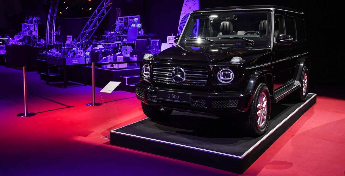 Der Haupttombolapreis beim Ball des Sports 2019: Ein Mercedes-Benz G 500.