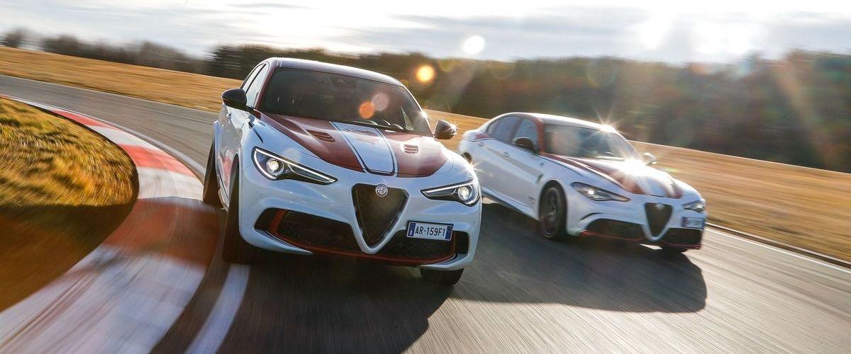 """Die Sondermodelle """"Alfa Romeo Racing"""" von Stelvio und Giulia feiern die Motorsport-Historie."""