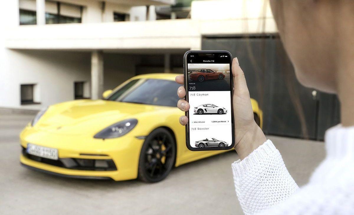 Einen Porsche mieten mit der Cluno-App.