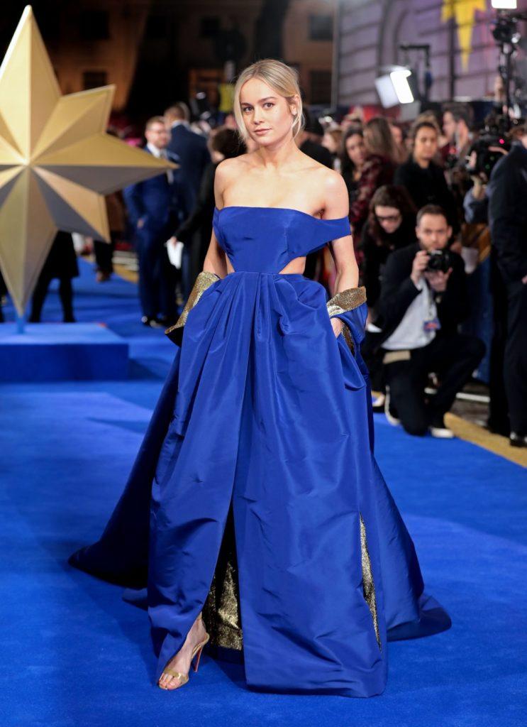 """Brie Larson auf dem Blue Carpet zur """"Captain Marvel""""-Premiere in London."""