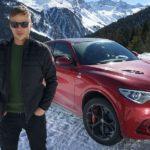 Auf Schnee: Mit Tom Wlaschiha im Alfa Romeo Stelvio Quadrifoglio