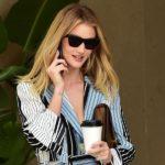 Outfit der Woche: Rosie Huntington-Whiteley im gestreiften Loungewear-Look