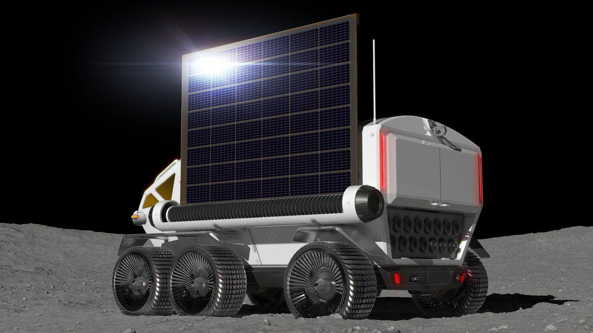 Konzept Rover-Mondfahrzeug mit Brennstoffzellenantrieb der Weltraumagentur JAXA und Toyota