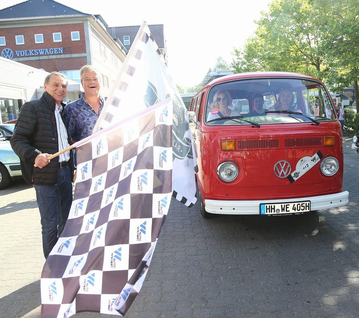 Rallye-Legende Jochi Kleint und Auto-Wichert-Chef Bernd Glathe