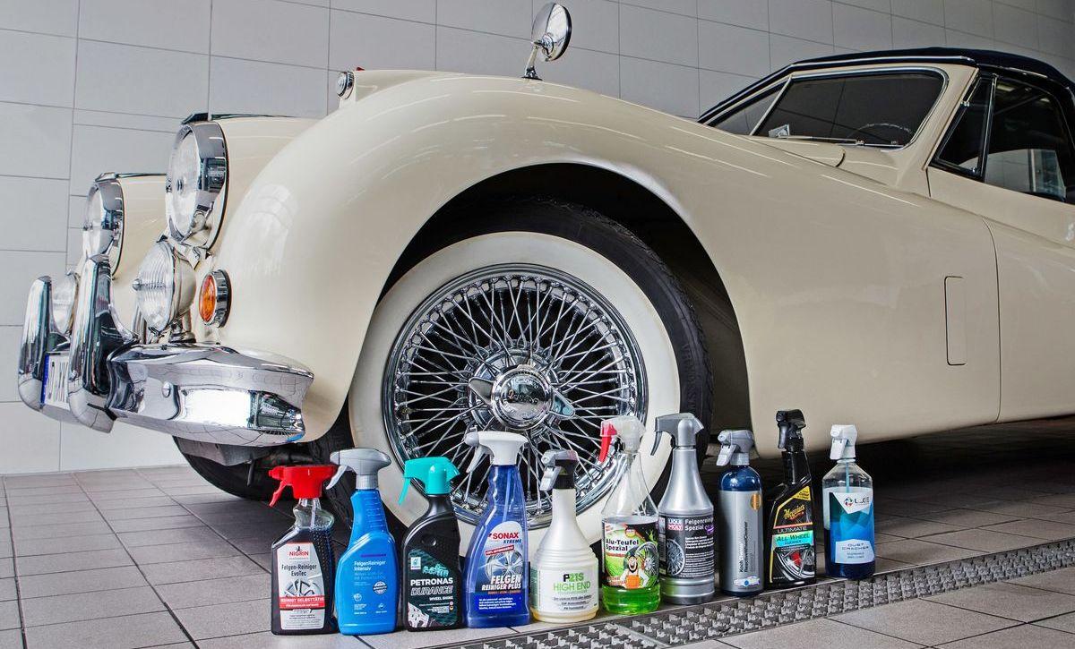 Die Gesellschaft für Technische Überwachung (GTÜ) und Auto Bild haben zehn handelsübliche Felgenreiniger getestet.
