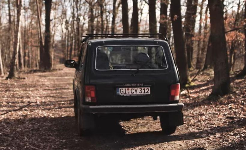 Der Lada Niva von Manfred Becker.