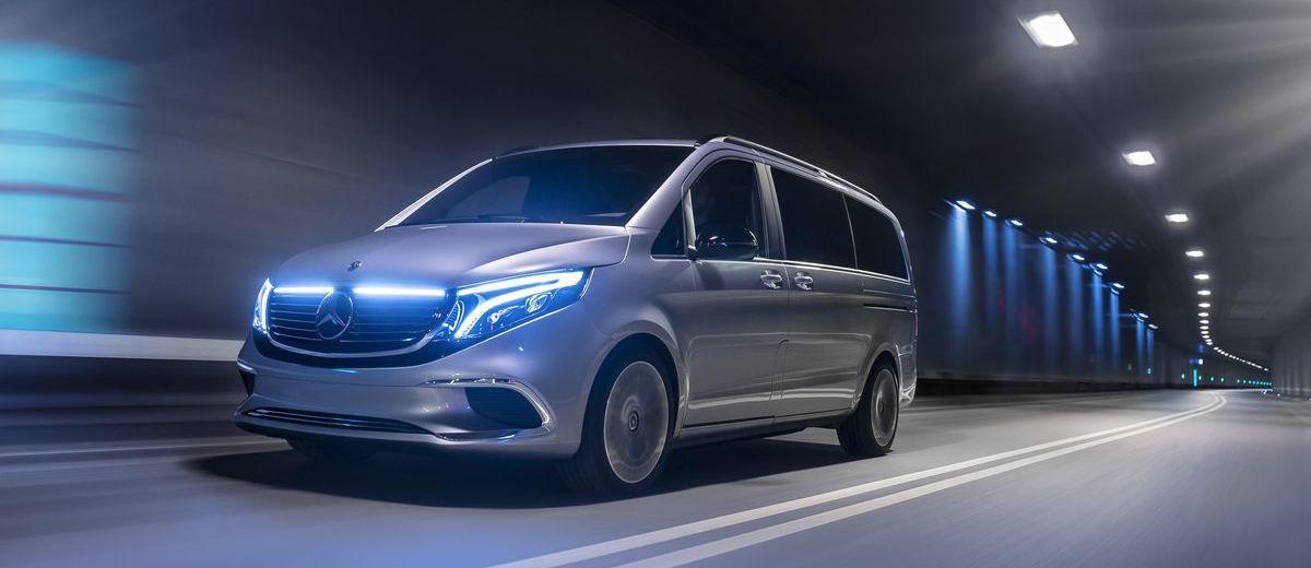 Mercedes-Benz Concept EQV (2019): Ausblick auf die elektrische Zukunft der Premium-Großraumlimousine.