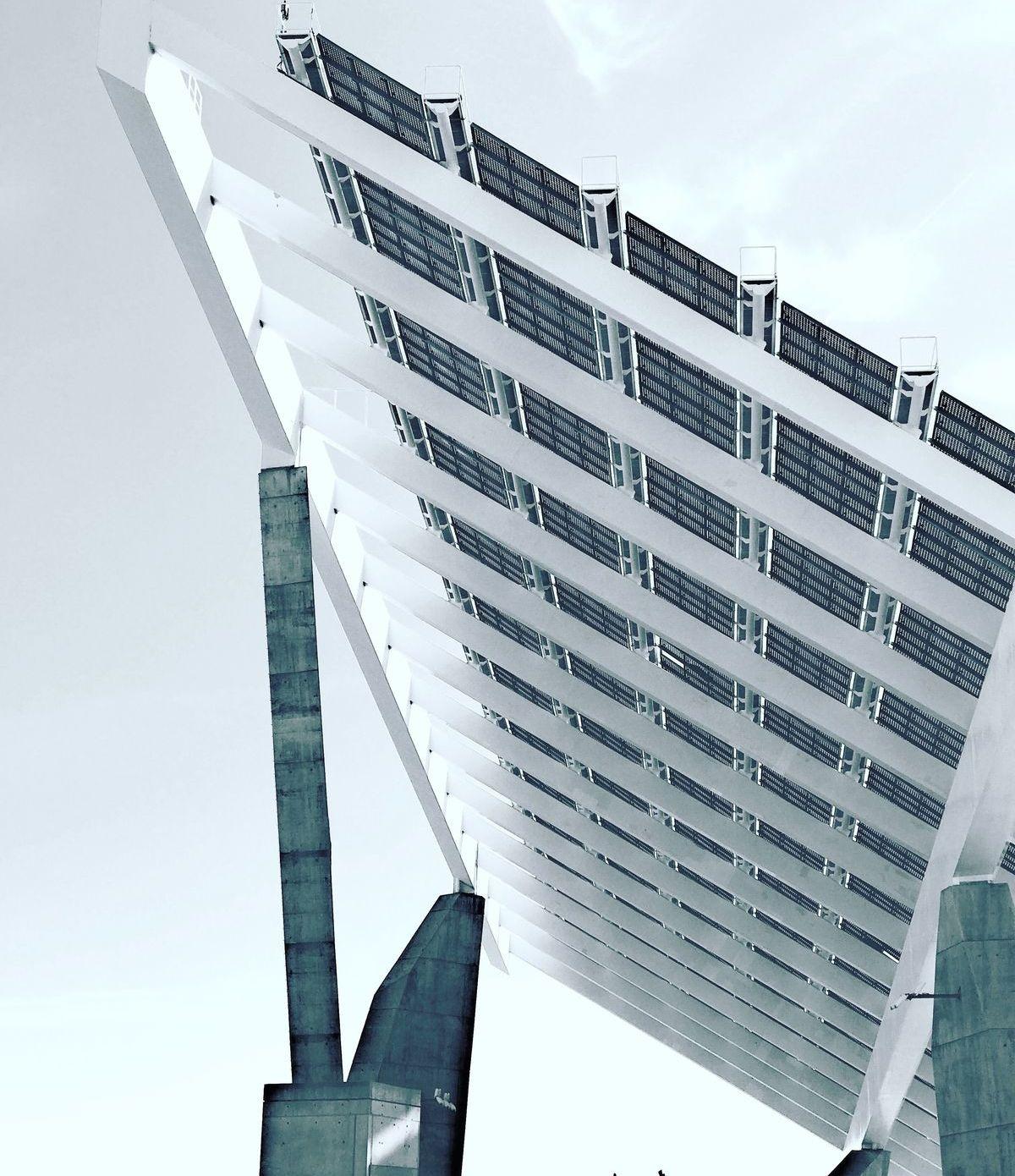 Blick auf die Photovoltaik-Anlage von Shots