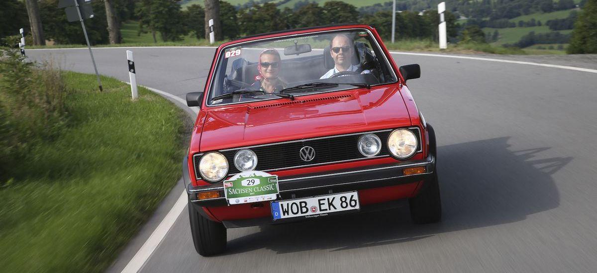 """Volkswagen Classic Depot: VW Golf I Cabriolet """"Erdbeerkörbchen"""" (1979)."""