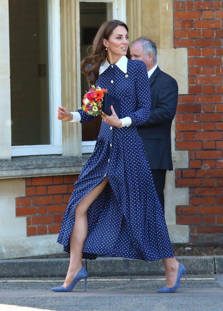 Kate im Polka Dot Kleid von Alessandra Rich (ddp images)