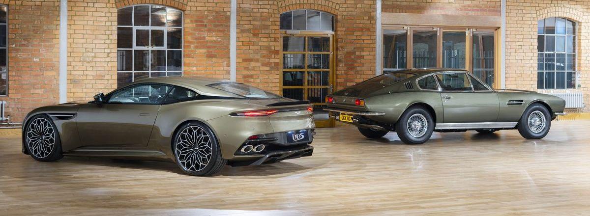 """Aston Martin DBS Superleggera Special Edition """"On Her Majesty's Secret Service"""" und das Vorbild von 1969"""
