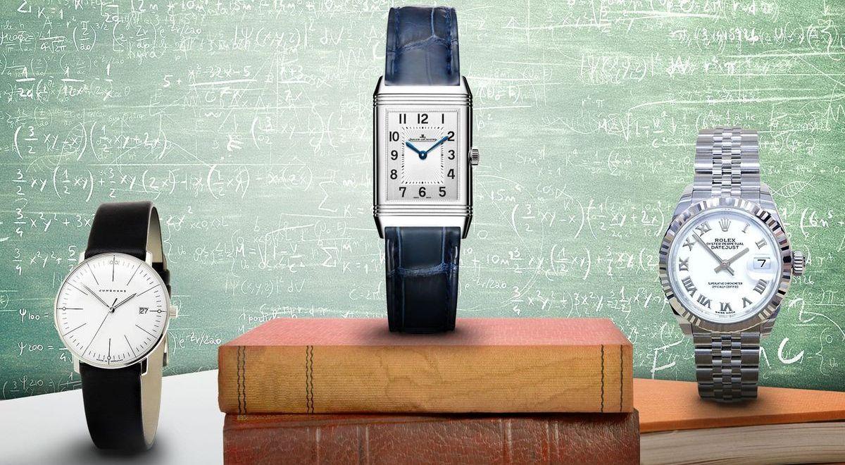 Die Uhren-Empfehlungen für Ladies: Junghans Max Bill, Jaeger-LeCoultre Reverso, Rolex Lady-Datejust