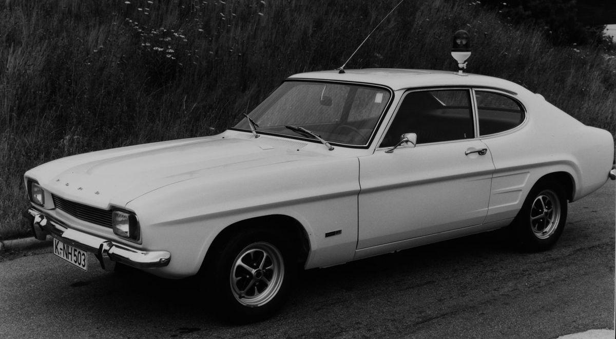 Ford Capri I (1969–1972) als Polizeiwagen