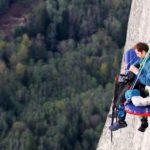 Abenteuer pur – im Schlafsack an der Steilwand übernachten