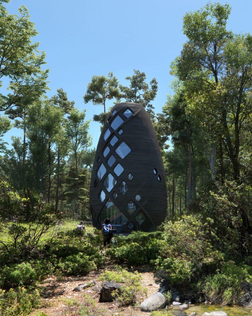 Tera-Haus aus dem 3D-Drucker von Al SpaceFactory