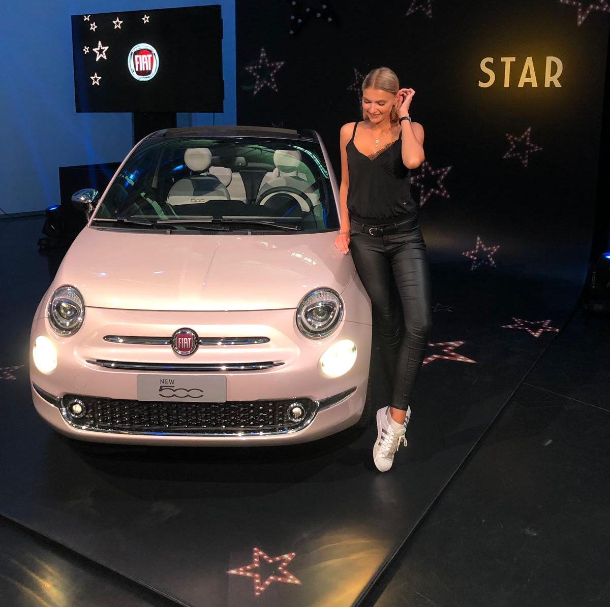 Jolina Fust mit dem Fiat 500 Star (2020)
