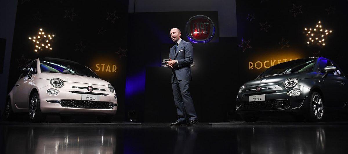 Fiat-Markenchef Luca Napolitano stellte Fiat 500 Star und Rockstar vor